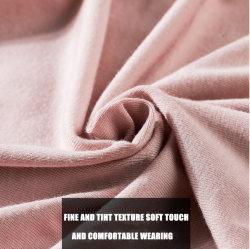Comercio al por mayor de 92% de algodón y viscosa 8% elasticidad elástica fibra regenerada de colores sólidos o impresiones T-Shirt tejido