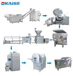 Máquina de Llenado de salchichas industriales/vacío automática completa línea de maquinaria hacer salchichas salchichas de vacío/máquina rellenadora