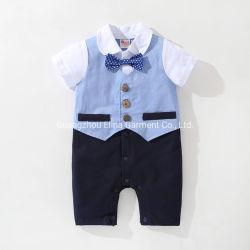 2021 新しいばねの秋の幼児紳士は長袖のハンサムな綿のロンパーを袖をした 新生児の赤ん坊の衣服の男の子の服装