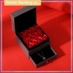 Raydeng lujo personalizadas de flores de Cajón caja de regalo con tapa protectora