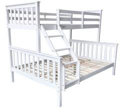 Дети белых сосновой тройной двухъярусная кровать в европейском стиле