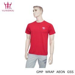 Aangepaste Katoen/Polyester om de Mens van het T-stuk van Gildan van de Hals/de Afgedrukte Duidelijke Geborduurde Eenvormige T-shirt van Mensen de Volledige Druk/van het Merk van de Groep