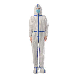 La Chine Fabricant costume de radioprotection à bas prix des vêtements de sécurité robe d'isolation en PVC avec une grande robe productif