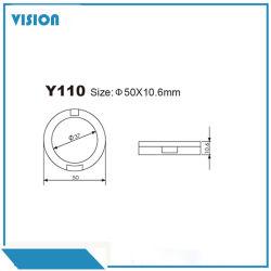 Redondo de plástico de un solo color Eyeshadow Palette Caso Caja compacta y envases cosméticos110-3