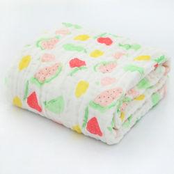 Organisches Baby Swaddle Baumwolle 100% 6 Schichten Musselin-Baby-Monatszudecke-