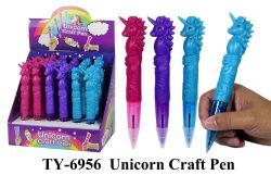 Divertido juguete de plumas de la artesanía de unicornio