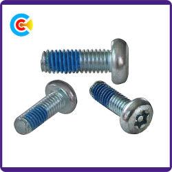 DIN/ANSI/BS/JIS Carbon-Steel/distribution à tête plate à six pans Stainless-Steel Anti-Loose vis mécanique