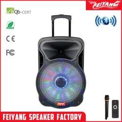 18-polegadas Temeisheng Feiyang Professional Karaoke Locutor Ativo Powered Defletor Carrinho recarregável com tripé FCC Cx-18d