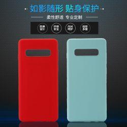 Cassa liquida ultra sottile del telefono mobile del silicone per Samsung S10 più