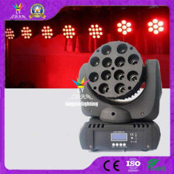 Etapa de mini cabezal movible de viga de 12X12 Vatios RGBW CREE LED
