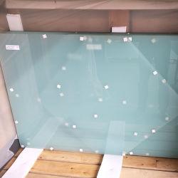 10.76mm translúcido de color blanco leche vidrio laminado templado paneles de balaustrada