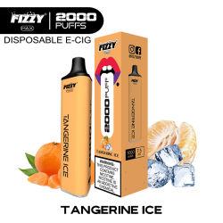 2021 Vente chaude Fizzy 2000qualité Premium jetables de bouffée de cigarette électronique Cuvie Ecig Vape stylo jetable
