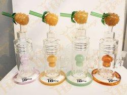 [هبكينغ] زجاجيّة [إيلّدلف] كأس أنبوب يدخّن [وتر بيب] مع أناناس [برك] [سموك بيب] زجاجيّة