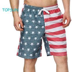 Jovencito producto de impresión de las prendas Estrella de la moda de verano de la banda elástica DEPORTE AL AIRE LIBRE PLAYA pantalones