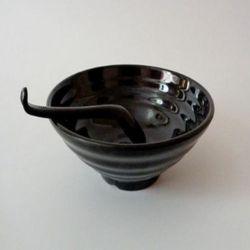 De snelle Speciale Zware Melamine van de Levering Geplaatste Kommen van Ramen van de Soep van 9 Duim de Zwarte Grote Japanse