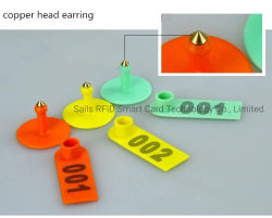 Pequena marca auricular para pequeno animal Coelho/Cabra/ID de suínos Tracking