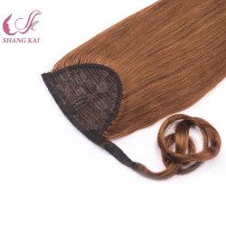 고품질 폰티테일 헤어 익스텐션 가공되지 않은 풀 큐티클 버진 인간 머리카락