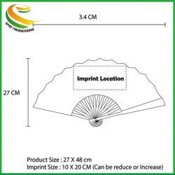 El bambú o plástico promocionales personalizados Abanicos