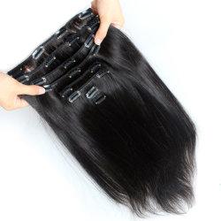 Clip diritta brasiliana di colore naturale nelle estensioni dei capelli umani