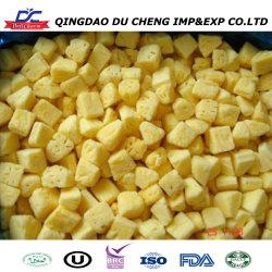 Ananás congelados venda quente orgânicos verde 100% natural de frutas congeladas HACCP fatias de abacaxi
