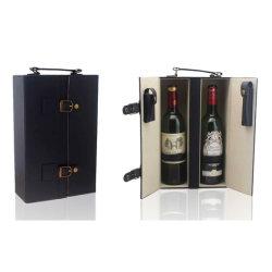 2 bouteille de vin en cuir avec du vin de cas accessoire (5833)