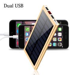Banque d'alimentation 30000solaire mAh Batterie Externe 2 voyant USB Powerbank Chargeur solaire portable Téléphone Mobile pour iPhone Xs Xiaomi Mi 8plus