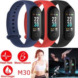 """Timethinker 0.96"""" Smart Bracelet Bracelet Watch Sport montre sport de la fréquence cardiaque Moniteur de pression sanguine Smart Podomètre de la bande M30"""