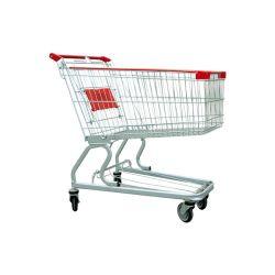 متجر مركز بلاستيك التجارى مقبض مزدوج سلة تسوق سوبر ماركت تروللى