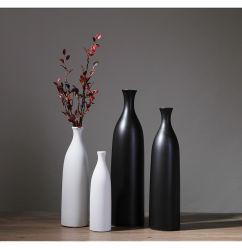 Décoration de style européen de la maison Vase de fleurs en céramique