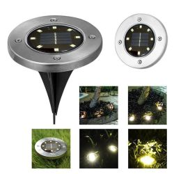 8LED 정원 태양 강화된 태양 갑판 빛