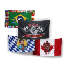 Baratos personalizados 3x5 pies publicidad al aire libre de fábrica de bandera La bandera de poliéster Impresión Digital banner mostrar la bandera Bandera de mano de coches