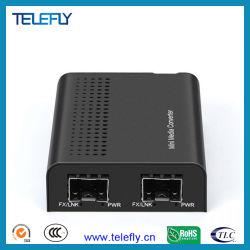 Mini Gigabit Fibre to Fibre Enternet Converter ondersteunt Rate from 100 Mbps tot 1250 Mbps 850 nm/1310 nm/1550 nm