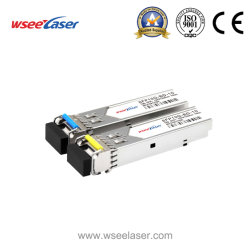 La fibra óptica Sm Bidi SFP+ T1270/R1330 LC 10km del transceptor de fibra óptica