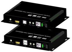 موسع ألياف ضوئية HDMI 2.0 بتردد 4K 60 هرتز مع نظام التحكم بالأشعة تحت الحمراء للصوت RS232 KVM USB إلى لوحة المفاتيح والماوس RS232 RJ45