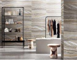 바닥과 벽 대리석 디자인의 포첼랭 타일, 그리고 매트 300X800mm의 문자반 홈 장식