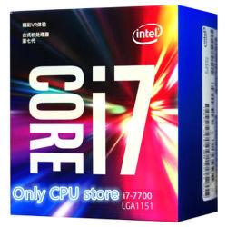 인텔 코어 I7-7700에 의하여 상자에 넣어지는 처리기 CPU LGA 1151 땅 7개의 시리즈 처리기 I7 7700 FC-LGA 14 나노미터 쿼드 코어 CPU