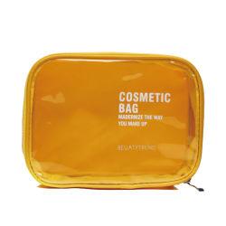 Housse de transport Portable transparente en PVC pour des vacances de toilette Sac de maquillage