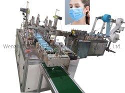 Maschera di protezione piana completamente automatica che fa macchina con la saldatrice della cinghia dell'orecchio da ad alto rendimento ultrasonico