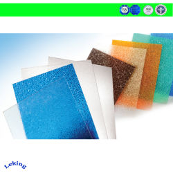 중국 Lexan 루핑 또는 닫집 또는 차일 닫집 온실 또는 간이 차고 또는 스카이라이트를 위한 단단한 폴리탄산염 장의, 착색되거나 서리로 덥는 돋을새김된 UV 입히는 PC 구렁 단면도