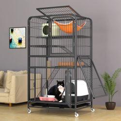 Acier fer métallique 4-Tier transporteur PET PET pour les chats de la chambre d'accueil