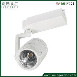 C-Tick ce cri>90 ajustable 30W Downlight Led COB en aluminium Argent/Blanc/Noir/ Voie lumière