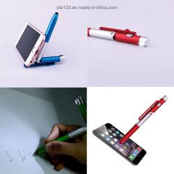 Stylo à bille de lecture multifonctionnel Support pour téléphone avec stylet stylo lumineux à LED