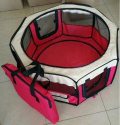 Coperchio resistente esterno dell'interno pieghevole molle portatile personalizzato commercio all'ingrosso dell'acqua di uso di caso di trasporto del Playpen del cane di animale domestico di marchio
