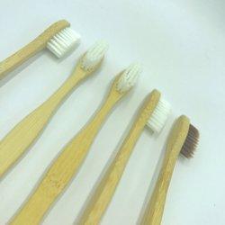 Professional moda ecológica de bambú con forma de cepillo de cerdas suaves