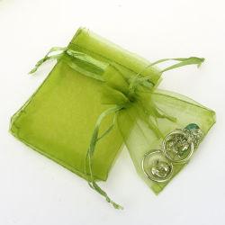 1000 Pièces 5x8 pouces couleur assortis l'organza coulisse des sachets de bonbons bijoux partie faveur de mariage sacs actuelle