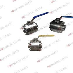 La forja de acero inoxidable sanitario Industrial/rosca hembra 3PC Válvula de bola de alta presión
