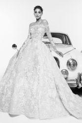 Vestito da cerimonia nuziale sexy della signora Bridal Women Luxury Strapless del merletto dell'abito di sfera