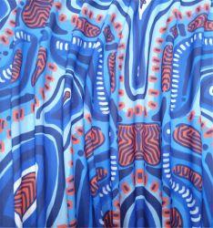 Desenho impresso personalizado Shorts Tecido Lycra de nylon tricotado