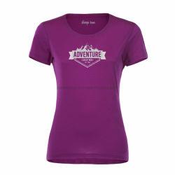 Piscina Athletic mulheres de manga curta leve T Shirt de lã merino Australiano