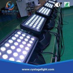 36*10W RGBW LUZ DE INUNDAÇÃO DMX Parede do painel de LED de lava-farol